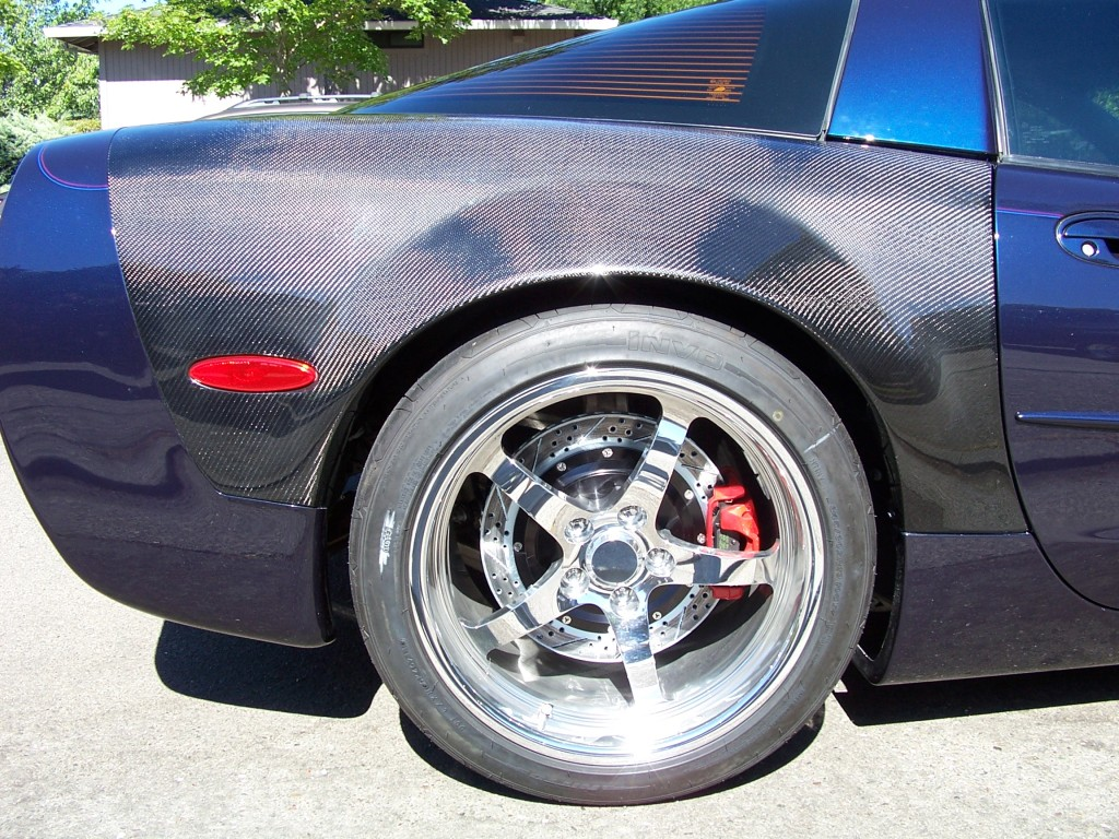 Carbon ZR Coupe Flared Rear Fenders